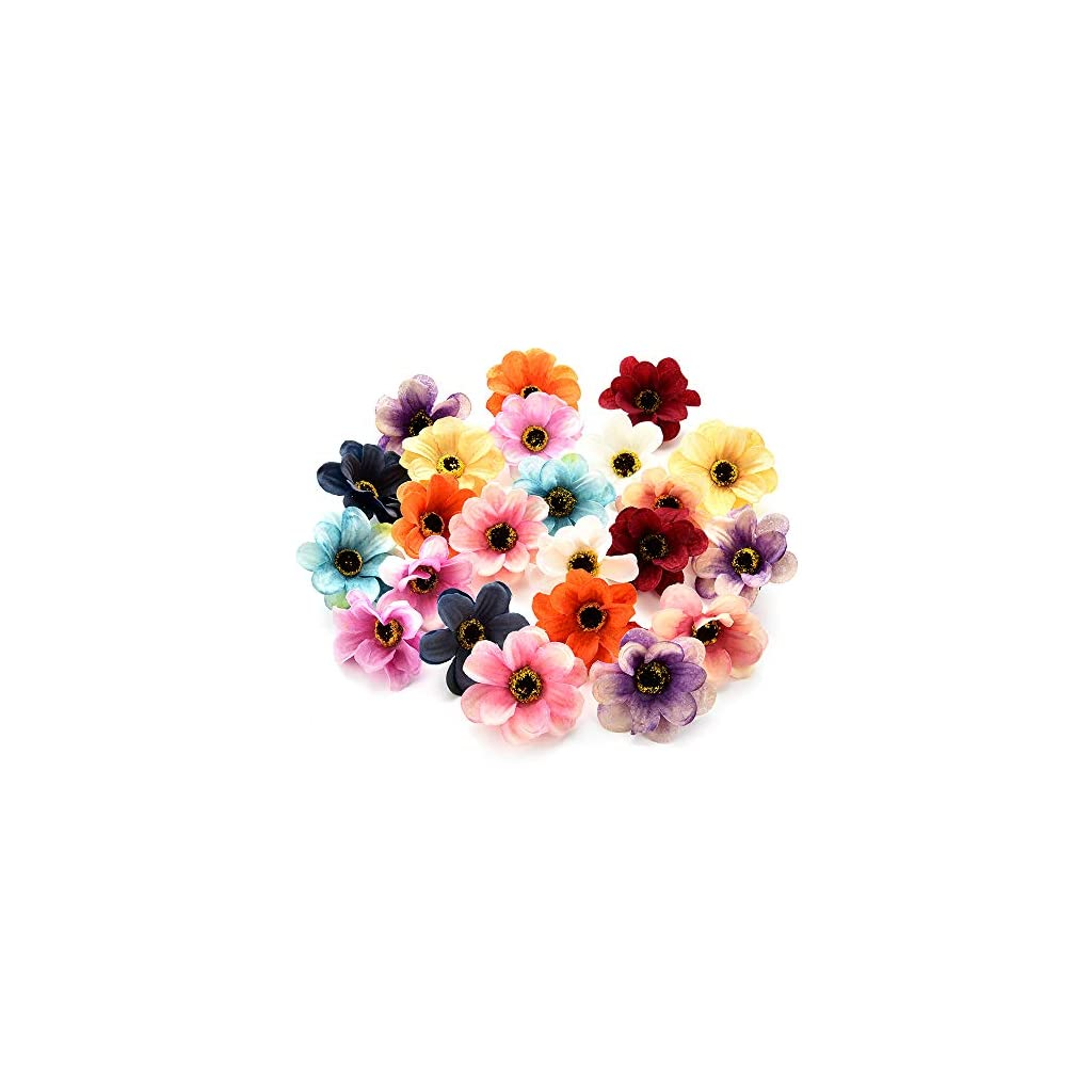 Fake Flower Heads In Bulk Wholesale For Crafts Silk Sunflower Daisy