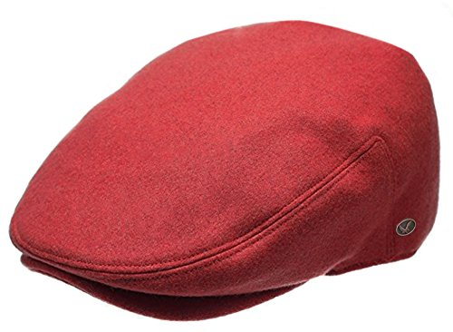 Epoch Men's Premium Wool Blend Classic Flat Ivy Newsboy Collection Hat (X-Large, 1581-Red) -