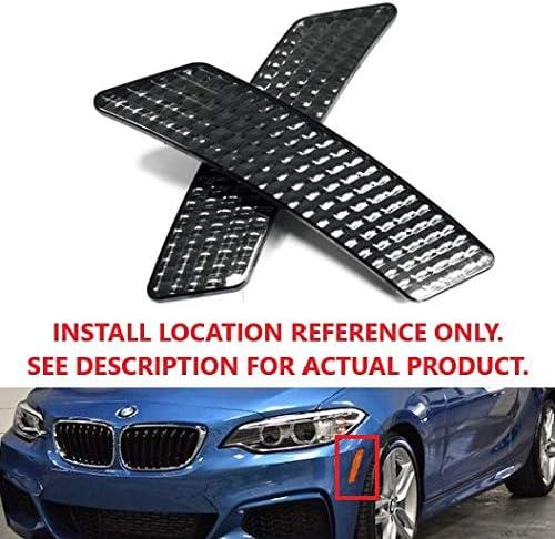TopPick 63147848451-63147848452-S Bumper Reflector Lights FOR BMW F22//F23 2-Series 2DR 2014-2018 Smoke//Black
