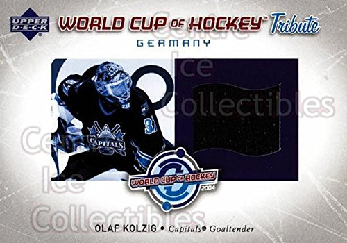 - (CI) Olaf Kolzig Hockey Card 2004-05 Upper Deck World Cup Tribute Jersey WCOK Olaf Kolzig