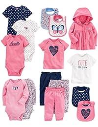 Baby Girls' 15-Piece Basic Essentials Set,