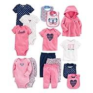 Baby Girls' 15-Piece Basic Essentials Set