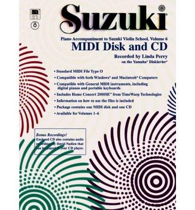 Suzuki Violin School, Vol 6 : General MIDI Disk CD-ROM(CD-Audio) - 2002 Edition PDF