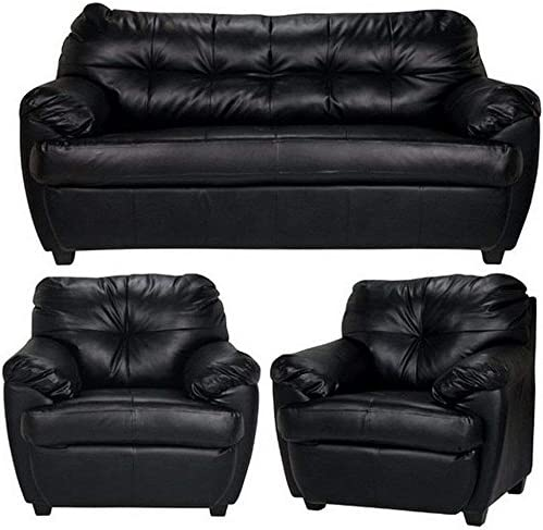 Furny Rosabelle 5 Seater 3-1-1 Sofa Set (Black)