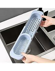 Uttagbar Diskbänk Hyllförvaringslåda, Tvålsvamp Rack Sink Drain Rack Förvaringskorg Kök Gadget Tillbehör