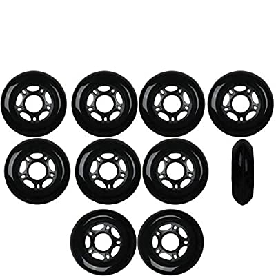 Player's Choice Inline Skate Wheels 80mm 82A Black Outdoor Roller Hockey Roller Hockey 10 Pack : Inline Skate Replacement Wheels : Sports & Outdoors