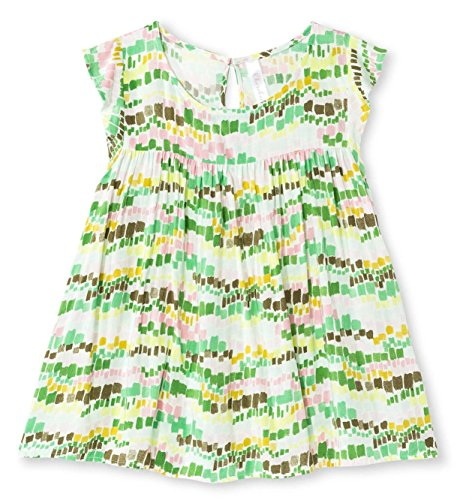 Cherokee Girls' Challis Blouse Glistening Green Geometric Pattern Summer Sun Top (Medium)