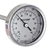 REOTEMP Heavy Duty Compost Thermometer - Fahrenheit and Celsius (36 Inch Stem)