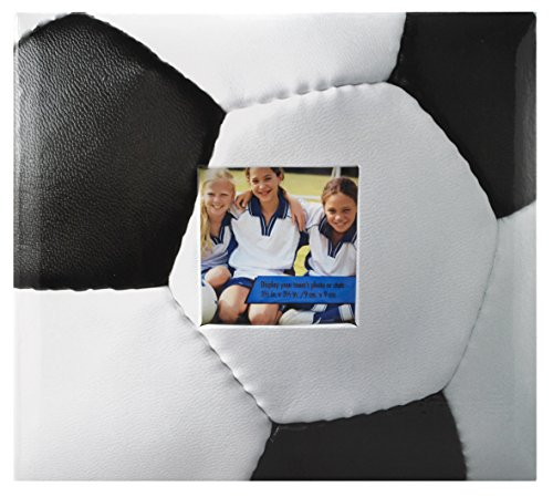 MCS MBI 9.6x8.5 Inch Soccer Theme Scrapbook Album with 8x8 Inch Pages with Photo Opening (865482) (Soccer Ball Photos)