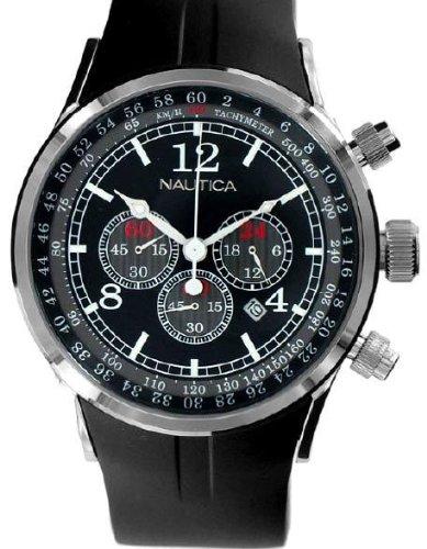 Nautica correa de reloj N13530G / A34001G / A13530G Caucho Negro 28mm(Sólo reloj correa - RELOJ NO INCLUIDO!): Amazon.es: Relojes