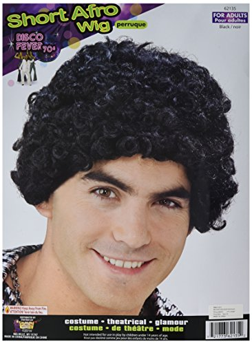 Forum Novelties Disco Short Afro Wig, Black]()