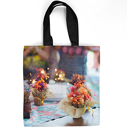 Personalized Birthday Cookie Bouquet - Westlake Art - Flowers Floral - Tote Bag - Fashionable Picture Photography Shopping Travel Gym Work School - 16x16 Inch (518F4)