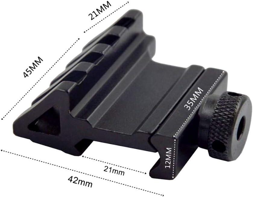 WEREWOLVES Zielfernrohrmontage 45-Grad-Winkelversatz Passend f/ür 20 mm Weaver Picatinny Rail Mount Adapter Pistole Taktisches Jagdzubeh/ör