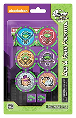 WizKids Unplugged Teenage Mutant Ninja Turtles Dice & Token ...