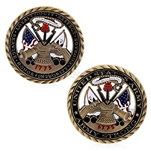 Non-currency Coins - Us Army Core Values Gold Plated Commemorative Challenge Coin Collection Art Gift - Non-currency Coins Currency Coins Coin Collect Bitcoin Souvenir Metal Token Special from CrossCKL