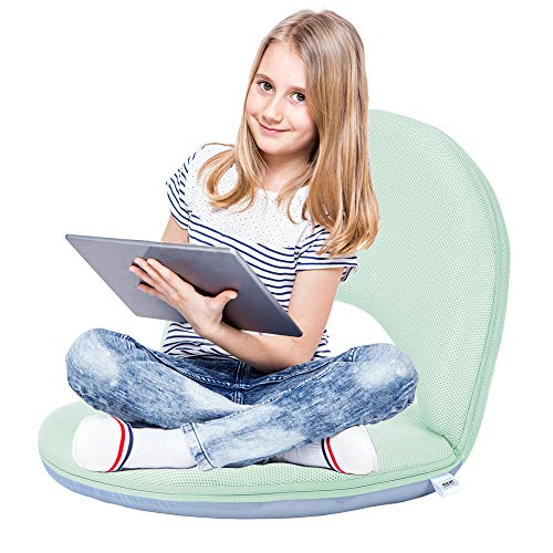 (Floor Chair Floor Cushion Sofa Folding Adjustable 5-Position Floor Seat with Back Support for Kids Adult, Great for Gaming Reading TV Watching Meditating)