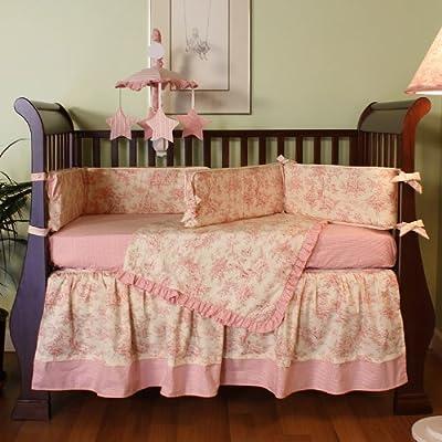 Hoohobbers 4-Piece Crib Bedding, Etoile Pink by Hoohobbers