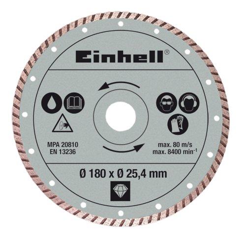 Einhell Diamant Trennscheibe passend für Radial-Fliesenschneidmaschinen (180x25,4 mm Turbo)
