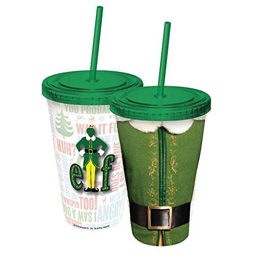 ICUP Elf The Movie Character Cup with Straw, Clear by ICUP