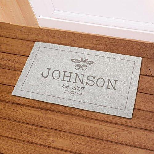 GiftsForYouNow Fall Acorn Personalized Doormat, 18 x 30