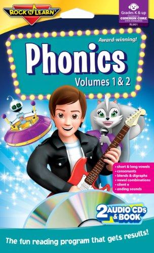 - Phonics - Vols. 1 & 2 - Audio CDs & Book by Rock 'N Learn