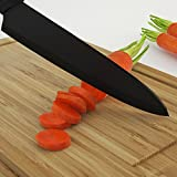 Ceramic Chef's Knife - Best & Sharpest 8-inch Black Professional Kitchen Knife - Latest & Hardest Blade That Doesn't Need Sharpening for Years - Comes with FREE Stylish Blade Cover/Case