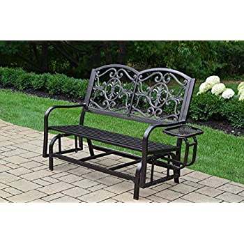 Amazon.com: Oakland Living Rochester 4 ft. Hierro planeador ...