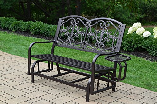 Oakland Living Lakeville Double Glider with Side Tray
