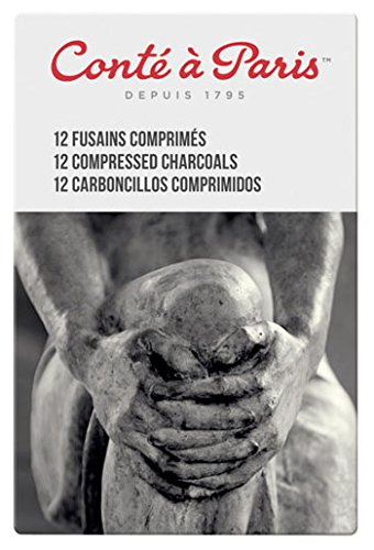 Conte Compressed Charcoal X12 Assorted by Conte