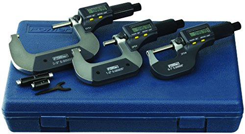 Digital Micrometer Set - Fowler 548601031 Electronic IP54 Outside Μm, Full Warranty, 54-860-103-1, 0-3