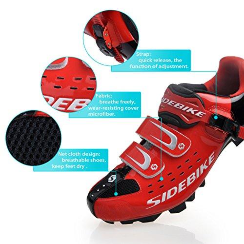 Sidebike Mtb Vélo Chaussures Hommes Professionnel De Vélo De Montagne Sd001-rouge Noir