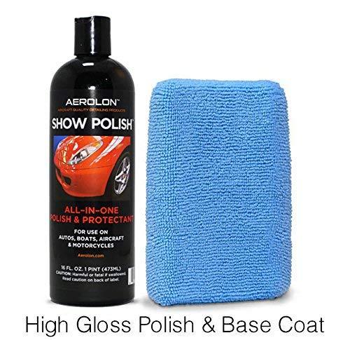 Aerolon - Show Polish & Sealer for Cars, Truck, Boat & Bike - Easy to Apply Base Coat Sealant for Ultimate Shine & Exterior Surface Protection - Better Than Regular Car Wax - 16oz Bottle & Applicator