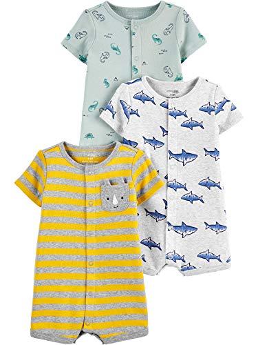 Simple Joys by Carter's baby jongens Rompers Baby Boys' 3-Pack Snap-Up Romper