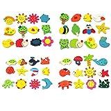 niceeshop(TM) 1 Set(12pcs) Lovely Creative Baby Toy Wooden Cartoon Refrigerator Magnets For Children-Random Color