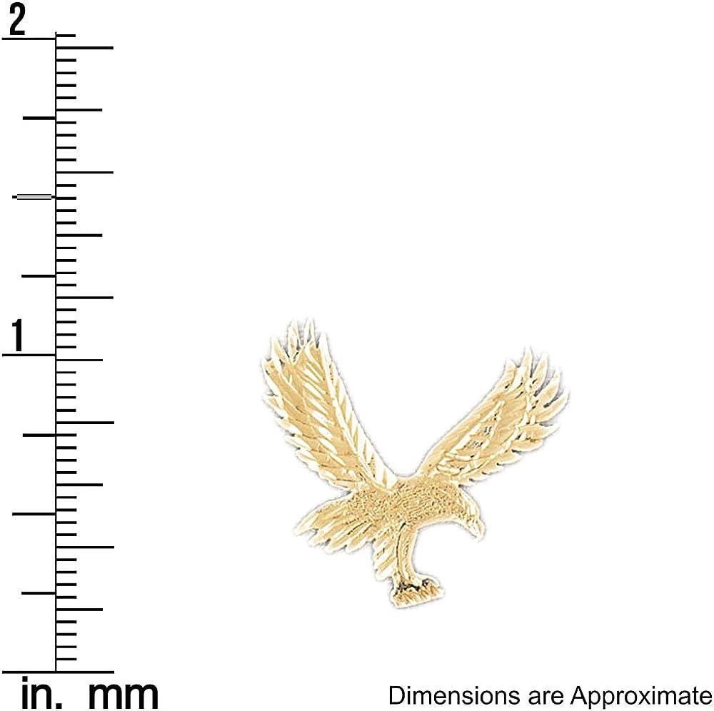 14k Yellow Gold Eagle Pendant 25mm x 25mm