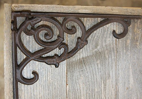 rian Cast Iron Shelf Brackets Vintage-look, 9 1/4 inches x 6