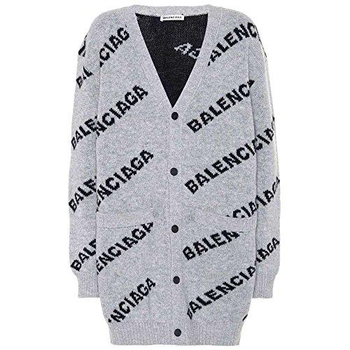 (バレンシアガ) Balenciaga レディース トップス カーディガン Intarsia wool-blend cardigan [並行輸入品]