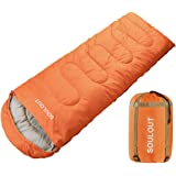 Sleeping Bag -3-4 Seasons Warm Cold Weather Lightweight, Portable, Waterproof Sleeping Bag with Compression Sack for Adults &