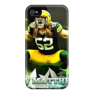 Excellent Hard Cell-phone Case For Iphone 4/4s (eZq2633sBKt) Custom Attractive Green Bay Packers Pictures