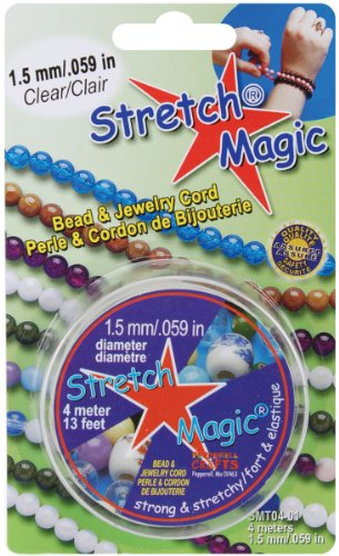 (Pepperell 1.5mm Stretch Magic Bead and Jewelry Cord, 4m, Clear)