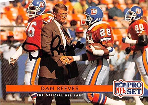 Dan Reeves autographed Football Card (Denver Broncos) 1992 Pro Set #162 - NFL Autographed Football Cards