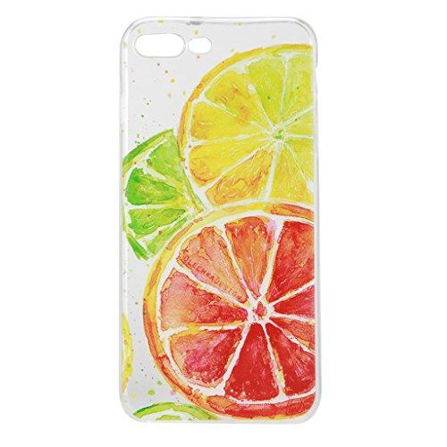 iPhone 7 Plus Cover , YIGA Moda Trasparente Limone Morbido TPU Case Custodia per Apple iPhone 7 Plus 5.5