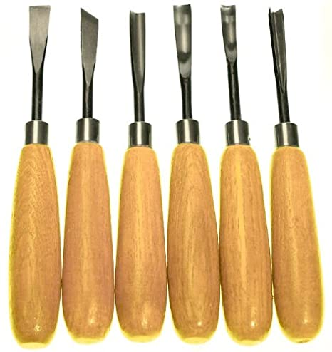 Wood Carvers Basic Tool Set With Straight Handles 6 Piece