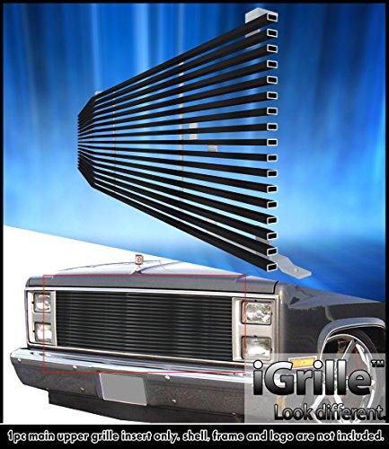 Fits 1981-1988 Chevy Blazer/ C/K Pickup Stainless T304 Black Billet Grille Grill #N19-J20058C