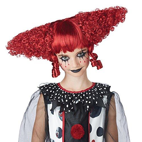 California Costumes Women's Creepy Clown Wig, Dark Red, One -