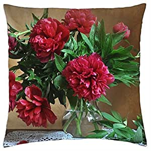 peonies flower nature flowers - Throw Pillow Cover Case (18