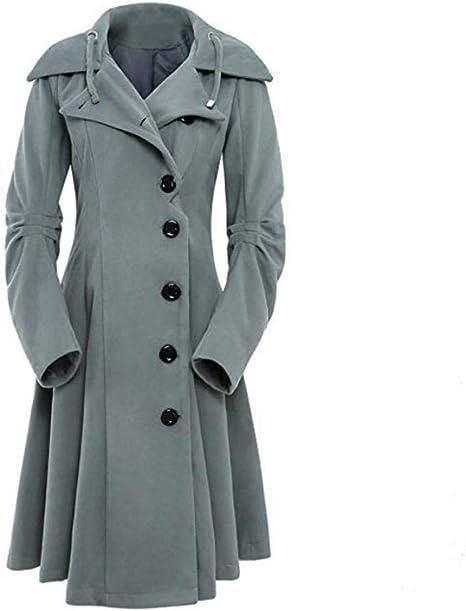 Gerade Geschnittener Baumwoll mantel Mit Reverskragen Dark