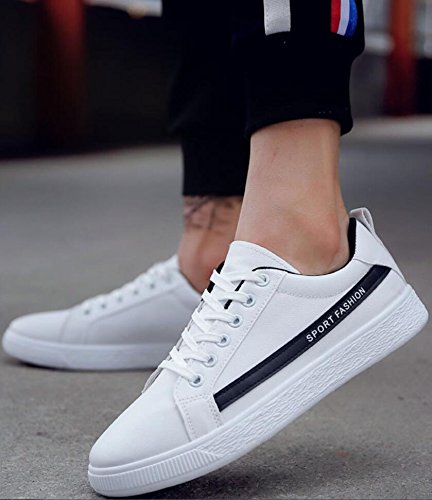SATUKI Canvas Shoes For Men,Fashion Sneakers,Casual Classic Lace Up Soft Lightweight Athletic Shoes White-black