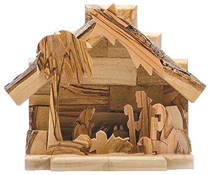 Presepi Di Legno Betlemme : Presepe cm a mano in legno di olivo isrealiana betlemme