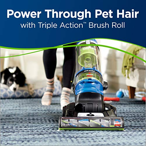 BISSELL Cleanview Rewind Pet Bagless Vacuum Cleaner, 2489, Blue
